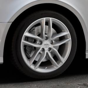 BBS SX brillantsilber Felge mit Reifen in 17Zoll Winterfelge Alufelge auf silbernem Audi A3 Typ 8V (Limousine) Facelift ⬇️ mit 15mm Tieferlegung ⬇️ Industriehalle 1 Thumbnail
