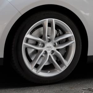 BBS SX brillantsilber Felge mit Reifen in 17Zoll Winterfelge Alufelge auf silbernem Ford C-Max II Typ DXA (10->) ⬇️ mit 15mm Tieferlegung ⬇️ Industriehalle 1 Thumbnail