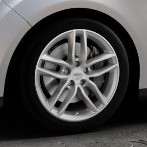 BBS SX brillantsilber Felge mit Reifen in 17Zoll Winterfelge Alufelge auf silbernem Ford Focus III Typ DYB (Turnier) ⬇️ mit 15mm Tieferlegung ⬇️ Industriehalle 1 Thumbnail