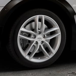 BBS SX brillantsilber Felge mit Reifen in 17Zoll Winterfelge Alufelge auf silbernem Mini F54 Typ UKL-L (Clubman) FMK ⬇️ mit 15mm Tieferlegung ⬇️ Industriehalle 1 Thumbnail