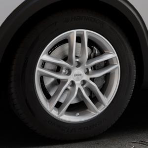 BBS SX brillantsilber Felge mit Reifen in 17Zoll Winterfelge Alufelge auf silbernem Peugeot 5008 Typ M ⬇️ mit 15mm Tieferlegung ⬇️ Industriehalle 1 Thumbnail