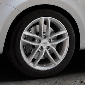 BBS SX brillantsilber Felge mit Reifen in 17Zoll Winterfelge Alufelge auf silbernem Volkswagen (VW) Sharan III Typ 7N (15->) ⬇️ mit 15mm Tieferlegung ⬇️ Industriehalle 1 Thumbnail