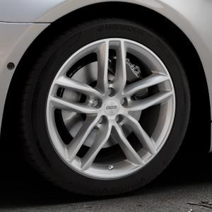 BBS SX brillantsilber Felge mit Reifen in 18Zoll Winterfelge Alufelge auf silbernem BMW 640i Typ F13 (Coupe) 650i 640d xDrive ⬇️ mit 15mm Tieferlegung ⬇️ Industriehalle 1 Thumbnail