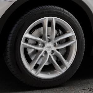 BBS SX brillantsilber Felge mit Reifen in 18Zoll Winterfelge Alufelge auf silbernem BMW X3 Typ F25 (X3, X-N1) ⬇️ mit 15mm Tieferlegung ⬇️ Industriehalle 1 Thumbnail