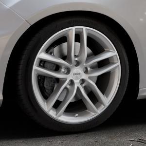 BBS SX brillantsilber Felge mit Reifen in 18Zoll Winterfelge Alufelge auf silbernem Ford Focus III Typ DYB Facelift (Schrägheck) 2,3l EcoBoost 257kW RS (349 PS) ⬇️ mit 15mm Tieferlegung ⬇️ Industriehalle 1 Thumbnail