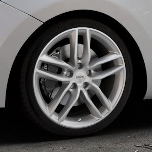 BBS SX brillantsilber Felge mit Reifen in 18Zoll Winterfelge Alufelge auf silbernem Hyundai i30 Typ GDH Kombi Facelift Coupe ⬇️ mit 15mm Tieferlegung ⬇️ Industriehalle 1 Thumbnail