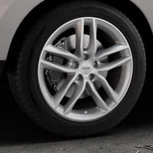 BBS SX brillantsilber Felge mit Reifen in 18Zoll Winterfelge Alufelge auf silbernem Hyundai ix35 Typ EL ELH LM LMFC ⬇️ mit 15mm Tieferlegung ⬇️ Industriehalle 1 Thumbnail