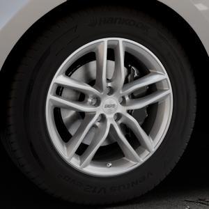 BBS SX brillantsilber Felge mit Reifen in 18Zoll Winterfelge Alufelge auf silbernem Land Rover Range Velar Typ LY ⬇️ mit 15mm Tieferlegung ⬇️ Industriehalle 1 Thumbnail