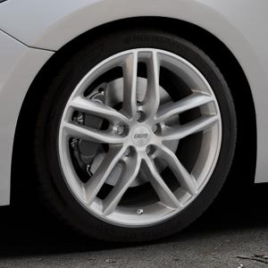 BBS SX brillantsilber Felge mit Reifen in 18Zoll Winterfelge Alufelge auf silbernem Mazda 3 (13-) Stufenheck (BM) Sport (17-) Facelift Fließheck ⬇️ mit 15mm Tieferlegung ⬇️ Industriehalle 1 Thumbnail