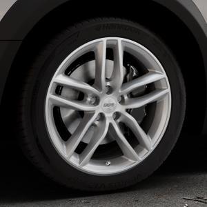 BBS SX brillantsilber Felge mit Reifen in 18Zoll Winterfelge Alufelge auf silbernem Peugeot 508 Typ 8 RXH Facelift ⬇️ mit 15mm Tieferlegung ⬇️ Industriehalle 1 Thumbnail