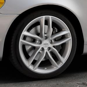 BBS SX brillantsilber Felge mit Reifen in 18Zoll Winterfelge Alufelge auf silbernem Volvo C70 II Cabriolet Typ M ⬇️ mit 15mm Tieferlegung ⬇️ Industriehalle 1 Thumbnail