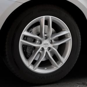 BBS SX brillantsilber Felge mit Reifen in 18Zoll Winterfelge Alufelge auf silbernem Volvo XC60 Typ D Facelift ⬇️ mit 15mm Tieferlegung ⬇️ Industriehalle 1 Thumbnail