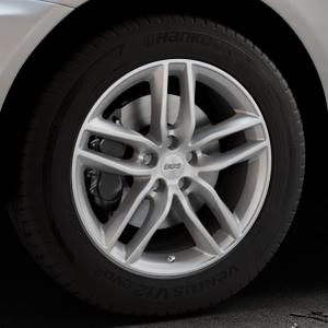 BBS SX brillantsilber Felge mit Reifen in 18Zoll Winterfelge Alufelge auf silbernem Volvo XC60 Typ D ⬇️ mit 15mm Tieferlegung ⬇️ Industriehalle 1 Thumbnail