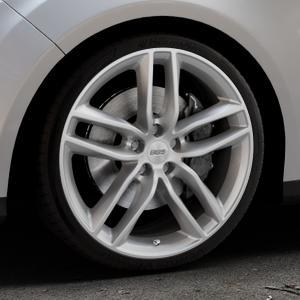 BBS SX brillantsilber Felge mit Reifen in 19Zoll Winterfelge Alufelge auf silbernem Ford Focus III Typ DYB (Turnier) ⬇️ mit 15mm Tieferlegung ⬇️ Industriehalle 1 Thumbnail