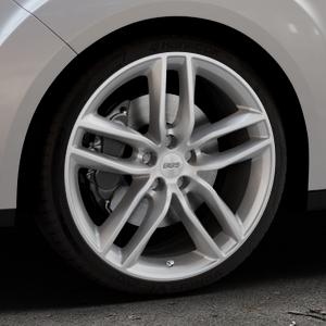 BBS SX brillantsilber Felge mit Reifen in 19Zoll Winterfelge Alufelge auf silbernem Ford Grand C-Max Typ DXA Facelift (15->) ⬇️ mit 15mm Tieferlegung ⬇️ Industriehalle 1 Thumbnail