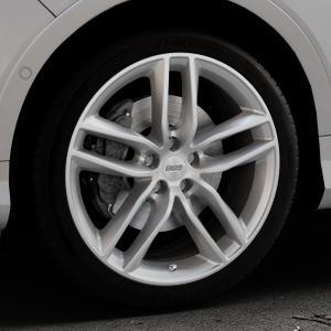 BBS SX brillantsilber Felge mit Reifen in 19Zoll Winterfelge Alufelge auf silbernem Ford Kuga II Facelift (15->) (17->) ⬇️ mit 15mm Tieferlegung ⬇️ Industriehalle 1 Thumbnail