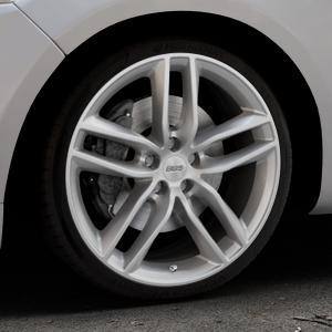 BBS SX brillantsilber Felge mit Reifen in 19Zoll Winterfelge Alufelge auf silbernem Ford Mondeo IV Limousine Typ BA7 Turnier Fließheck ⬇️ mit 15mm Tieferlegung ⬇️ Industriehalle 1 Thumbnail