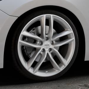BBS SX brillantsilber Felge mit Reifen in 19Zoll Winterfelge Alufelge auf silbernem Mazda 3 (13-) Stufenheck (BM) Sport (17-) Facelift Fließheck ⬇️ mit 15mm Tieferlegung ⬇️ Industriehalle 1 Thumbnail