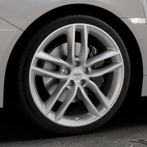 BBS SX brillantsilber Felge mit Reifen in 19Zoll Winterfelge Alufelge auf silbernem Subaru WRX Typ V1 Model 2018 ⬇️ mit 15mm Tieferlegung ⬇️ Industriehalle 1 Thumbnail