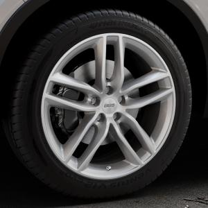 BBS SX brillantsilber Felge mit Reifen in 19Zoll Winterfelge Alufelge auf silbernem Volvo XC40 Typ X ⬇️ mit 15mm Tieferlegung ⬇️ Industriehalle 1 Thumbnail