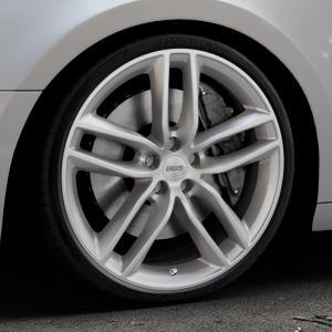 BBS SX brillantsilber Felge mit Reifen in 20Zoll Winterfelge Alufelge auf silbernem Audi A4 Typ B9 (Avant) ⬇️ mit 15mm Tieferlegung ⬇️ Industriehalle 1 Thumbnail