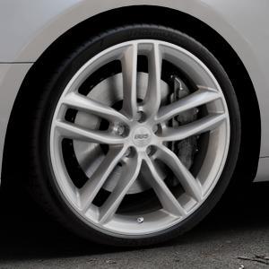BBS SX brillantsilber Felge mit Reifen in 20Zoll Winterfelge Alufelge auf silbernem Audi A5 Typ B9 (Coupé) (Cabriolet) ⬇️ mit 15mm Tieferlegung ⬇️ Industriehalle 1 Thumbnail