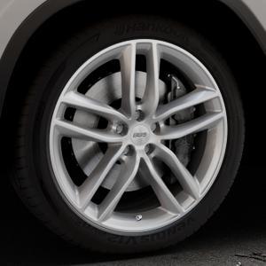 BBS SX brillantsilber Felge mit Reifen in 20Zoll Winterfelge Alufelge auf silbernem BMW X3 Typ G01 (G3X) ⬇️ mit 15mm Tieferlegung ⬇️ Industriehalle 1 Thumbnail
