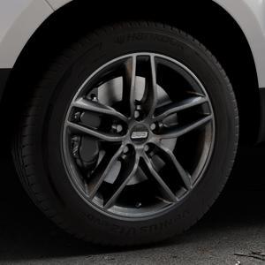 BBS SX kristall-schwarz Felge mit Reifen in 17Zoll Winterfelge Alufelge auf silbernem Dacia Duster Typ SD ⬇️ mit 15mm Tieferlegung ⬇️ Industriehalle 1 Thumbnail