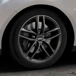 BBS SX kristall-schwarz Felge mit Reifen in 17Zoll Winterfelge Alufelge auf silbernem Ford Focus III Typ DYB Facelift (Turnier) ⬇️ mit 15mm Tieferlegung ⬇️ Industriehalle 1 Thumbnail