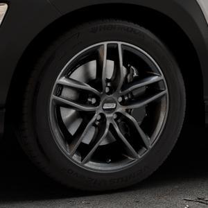 BBS SX kristall-schwarz Felge mit Reifen in 17Zoll Winterfelge Alufelge auf silbernem Hyundai Kona Typ OS ⬇️ mit 15mm Tieferlegung ⬇️ Industriehalle 1 Thumbnail