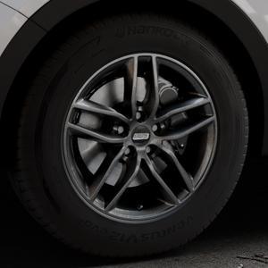 BBS SX kristall-schwarz Felge mit Reifen in 17Zoll Winterfelge Alufelge auf silbernem Hyundai Santa Fé III Typ DM Facelift ⬇️ mit 15mm Tieferlegung ⬇️ Industriehalle 1 Thumbnail