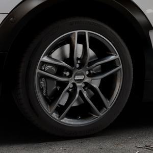 BBS SX kristall-schwarz Felge mit Reifen in 17Zoll Winterfelge Alufelge auf silbernem Mini F54 Typ UKL-L (Clubman) FMK ⬇️ mit 15mm Tieferlegung ⬇️ Industriehalle 1 Thumbnail