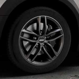 BBS SX kristall-schwarz Felge mit Reifen in 17Zoll Winterfelge Alufelge auf silbernem Peugeot 508 Typ 8 RXH Facelift ⬇️ mit 15mm Tieferlegung ⬇️ Industriehalle 1 Thumbnail