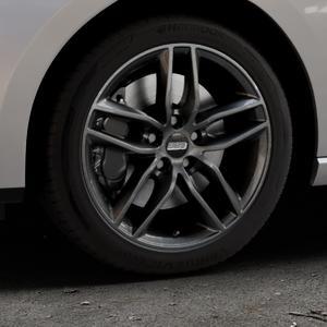 BBS SX kristall-schwarz Felge mit Reifen in 17Zoll Winterfelge Alufelge auf silbernem Seat Leon Typ 5F ST Facelift ⬇️ mit 15mm Tieferlegung ⬇️ Industriehalle 1 Thumbnail