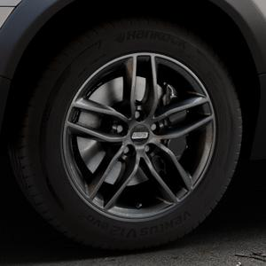 BBS SX kristall-schwarz Felge mit Reifen in 17Zoll Winterfelge Alufelge auf silbernem Volvo XC70 II Typ B ⬇️ mit 15mm Tieferlegung ⬇️ Industriehalle 1 Thumbnail