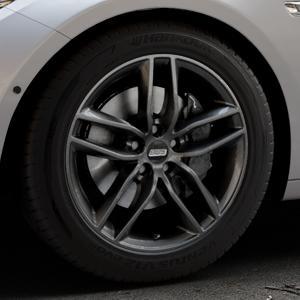 BBS SX kristall-schwarz Felge mit Reifen in 18Zoll Winterfelge Alufelge auf silbernem BMW 535i GT Typ F07 xDrive 550i 530d 535d 520d 528i ⬇️ mit 15mm Tieferlegung ⬇️ Industriehalle 1 Thumbnail