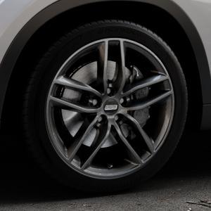 BBS SX kristall-schwarz Felge mit Reifen in 18Zoll Winterfelge Alufelge auf silbernem BMW X1 Typ E84 (X1, X-N1, X1-N1) ⬇️ mit 15mm Tieferlegung ⬇️ Industriehalle 1 Thumbnail
