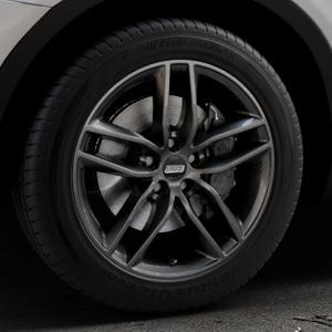 BBS SX kristall-schwarz Felge mit Reifen in 18Zoll Winterfelge Alufelge auf silbernem BMW X3 Typ F25 (X3, X-N1) ⬇️ mit 15mm Tieferlegung ⬇️ Industriehalle 1 Thumbnail