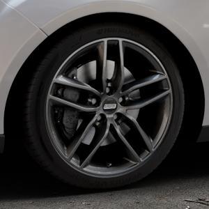 BBS SX kristall-schwarz Felge mit Reifen in 18Zoll Winterfelge Alufelge auf silbernem Ford Focus III Typ DYB Facelift (Turnier) ⬇️ mit 15mm Tieferlegung ⬇️ Industriehalle 1 Thumbnail