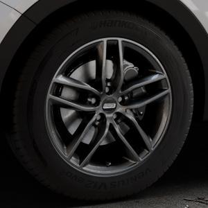 BBS SX kristall-schwarz Felge mit Reifen in 18Zoll Winterfelge Alufelge auf silbernem Hyundai Santa Fé III Typ DM Facelift ⬇️ mit 15mm Tieferlegung ⬇️ Industriehalle 1 Thumbnail