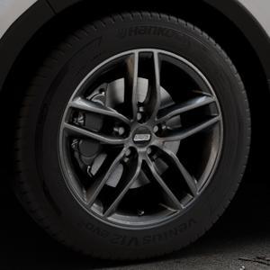 BBS SX kristall-schwarz Felge mit Reifen in 18Zoll Winterfelge Alufelge auf silbernem Kia Sorento III Typ UM ⬇️ mit 15mm Tieferlegung ⬇️ Industriehalle 1 Thumbnail