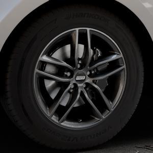 BBS SX kristall-schwarz Felge mit Reifen in 18Zoll Winterfelge Alufelge auf silbernem Land Rover Range Velar Typ LY ⬇️ mit 15mm Tieferlegung ⬇️ Industriehalle 1 Thumbnail