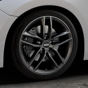 BBS SX kristall-schwarz Felge mit Reifen in 18Zoll Winterfelge Alufelge auf silbernem Mazda 3 (13-) Stufenheck (BM) Sport (17-) Facelift Fließheck ⬇️ mit 15mm Tieferlegung ⬇️ Industriehalle 1 Thumbnail