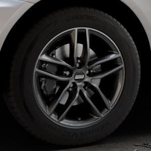 BBS SX kristall-schwarz Felge mit Reifen in 18Zoll Winterfelge Alufelge auf silbernem Volvo XC60 Typ D ⬇️ mit 15mm Tieferlegung ⬇️ Industriehalle 1 Thumbnail