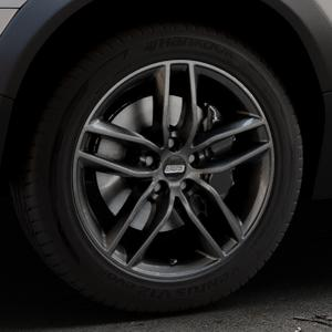 BBS SX kristall-schwarz Felge mit Reifen in 18Zoll Winterfelge Alufelge auf silbernem Volvo XC70 II Typ B ⬇️ mit 15mm Tieferlegung ⬇️ Industriehalle 1 Thumbnail