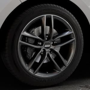 BBS SX kristall-schwarz Felge mit Reifen in 19Zoll Winterfelge Alufelge auf silbernem Ford Edge Typ SBF ⬇️ mit 15mm Tieferlegung ⬇️ Industriehalle 1 Thumbnail