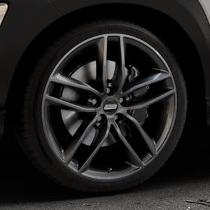 BBS SX kristall-schwarz Felge mit Reifen in 19Zoll Winterfelge Alufelge auf silbernem Hyundai Kona Typ OS ⬇️ mit 15mm Tieferlegung ⬇️ Industriehalle 1 Thumbnail