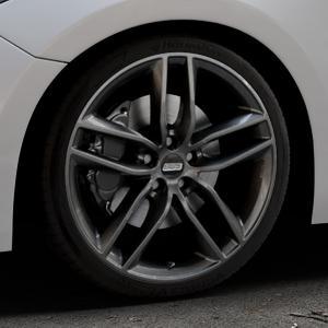 BBS SX kristall-schwarz Felge mit Reifen in 19Zoll Winterfelge Alufelge auf silbernem Mazda 3 (13-) Stufenheck (BM) Sport (17-) Facelift Fließheck ⬇️ mit 15mm Tieferlegung ⬇️ Industriehalle 1 Thumbnail