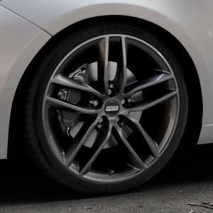 BBS SX kristall-schwarz Felge mit Reifen in 19Zoll Winterfelge Alufelge auf silbernem Peugeot 308 II Typ L Facelift ⬇️ mit 15mm Tieferlegung ⬇️ Industriehalle 1 Thumbnail