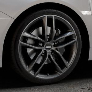 BBS SX kristall-schwarz Felge mit Reifen in 19Zoll Winterfelge Alufelge auf silbernem Subaru WRX Typ V1 Model 2018 ⬇️ mit 15mm Tieferlegung ⬇️ Industriehalle 1 Thumbnail